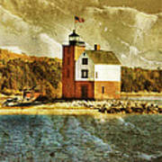 Round Island Lighthouse Art Print