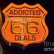 Route 66 Addicted Art Print