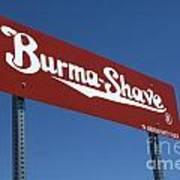 Route 66 Burma Shave Art Print