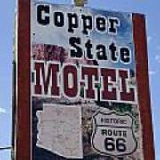 Route 66 Copper State Motel Art Print