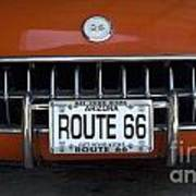 Route 66 Corvette Grill Art Print