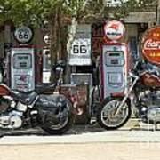Route 66 Gas Pumps Art Print