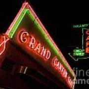 Route 66 Grand Canyon Neon Art Print