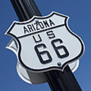 Route 66 Highway Sign Art Print