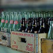 Route 66 Odell Il Gas Station Cases Of Pop Bottles Digital Art Art Print