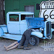 Route 66 Repair Shop Art Print