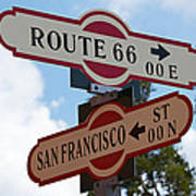 Route 66 Street Sign Art Print
