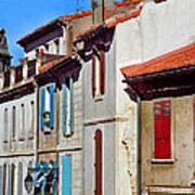 Row Of Houses In Arles Provence Art Print