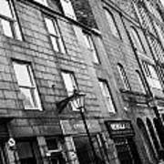 Row Of Old Granite Houses And Shops On The Green Aberdeen Scotland Uk Art Print