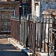 Row Of Tombs St Louis One Cemetery New Orleans Art Print