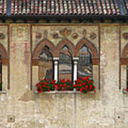 Row Of Windows In Treviso Italy Art Print