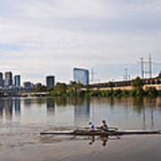 Rowing The Schuylkill Art Print