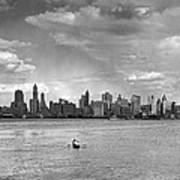 Rowing To Manhattan Art Print