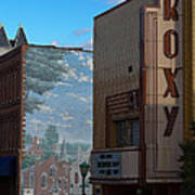 Roxy Theater And Mural Art Print