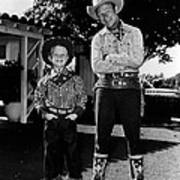 Roy Dusty Rogers Jr., And His Father Art Print