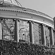 Royal Conservatory In Brussels - Black And White Art Print