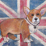 Royal Corgi Art Print