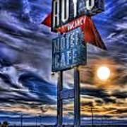 Roy's Motel Cafe Art Print