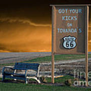 Rt 66 Towanda Signage Art Print