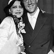Rudy Vallee Right, And His Wife, Fay Art Print