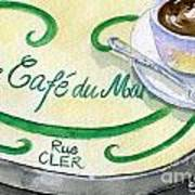 Rue Cler Cafe Art Print