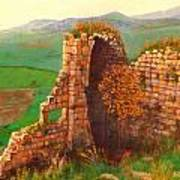 Ruined Castle View Art Print