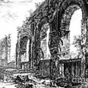Ruins Of Roman Aqueduct, 18th Century Print by Photo Researchers
