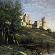 Ruins Of The Chateau De Pierrefonds Art Print