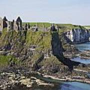 Ruins On Coastal Cliff Art Print