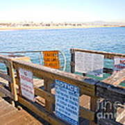 Rules Of The Pier  Art Print