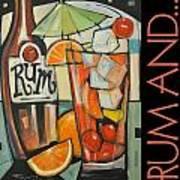 Rum And Poster Art Print