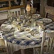 Rural Table Setting For Four No.3121 Art Print