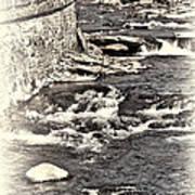 Rushing Water Cream Art Print