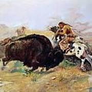 Russell: Buffalo Hunt Art Print