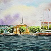 Russia Saint Petersburg Neva River Art Print