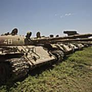 Russian T-62 Main Battle Tanks Rest Art Print