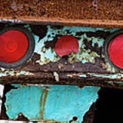 Rusted Blue Taillight Art Print