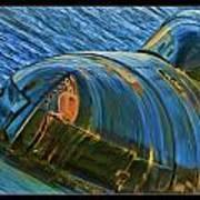 Rusted Submarine Art Print