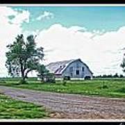 Rustic Barn Scene Art Print