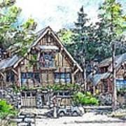 Rustic Cabins Art Print