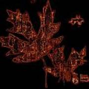 Rustic Leaves Art Print