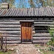 Rustic Pioneer Log Cabin - Salt Lake City Art Print