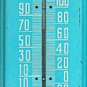 Rustic Thermometer Art Print