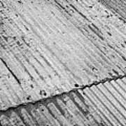 Rusting Repaired Corrugated Iron Roof Sheeting In Edinburgh Art Print by Joe Fox