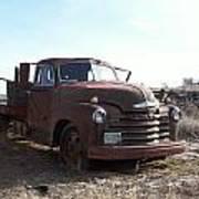 Rusty Abandoned Chevy Truck Art Print
