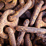 Rusty Anchor Chains In Key West Art Print