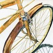 Rusty Beach Bike Art Print by Norma Gafford