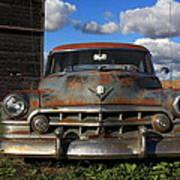 Rusty Old Cadillac Art Print