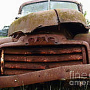Rusty Old Gmc Truck . 7d8396 Art Print