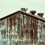 Rusty Tin Factory Building Art Print